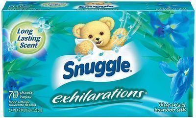 Snuggle 70 Count Exhilarations Fabric Softener Dryer Sheets