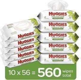 Huggies Natural Care Sensitive Baby Wipes 10-Pack