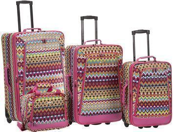 Rockland Escape 4-Pc. Softside Upright Luggage Set