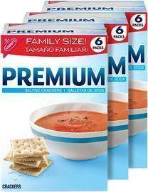 3 Boxes of Premium Saltine Crackers, Family Size