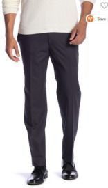Savile Row Co. Men's New Heathrow Modern Fit Bi-Stretch Pants