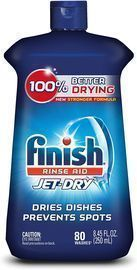 Finish Jet-Dry Rinse Aid, 8.45oz, Dishwasher Rinse Agent & Drying Agent