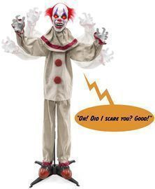 Scary Harry the Motion Activated Animatronic Killer Clown Halloween Prop