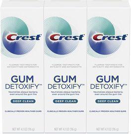 3-Pack 4.1oz Crest Gum Detoxify Deep Clean Toothpaste