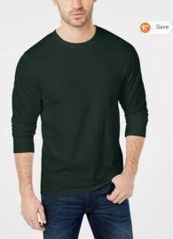Club Room Men's Long Sleeve Crew-Neck T-Shirt