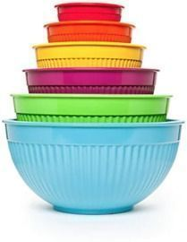Cooks Tools 6-Piece Ribbed Mixing Bowl Set