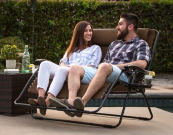 2-Person Double Wide Zero Gravity Chair Lounger