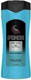 4x 16-Oz AXE 2 in 1 Body Wash and Shampoo for Men