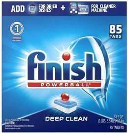 2 Packs of Finish All in 1 Dishwashing Tablets (85ct)