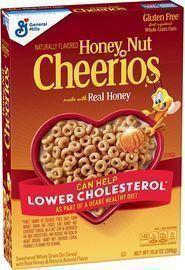 Honey Nut Cheerios, Gluten Free Cereal w/ Oats