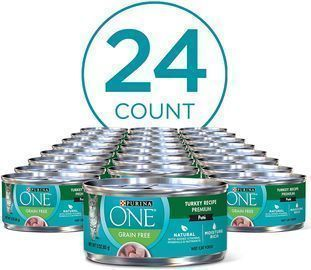 Pack of 24 Purina ONE Natural Adult Canned Wet Cat Food (3 oz.)