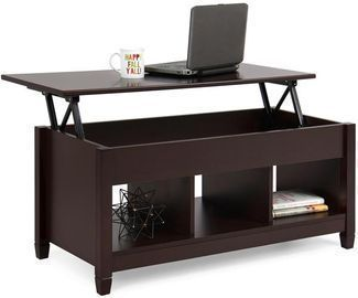 Coffee Table Furniture w/ Hidden Storage & Lift Tabletop