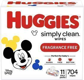 11pks of Huggies Simply Clean Unscented Baby Wipes (704 Wipes Total)