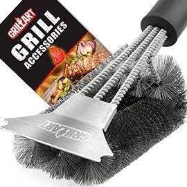 18 Stainless Steel Triple Scrubber Grill Brush