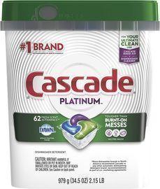Cascade Platinum Dishwasher Pods 62-Ct.