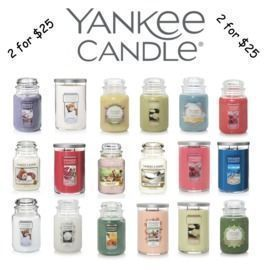2 For $25 Large Candles ($34 Savings)