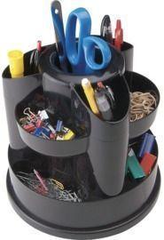Staples 10604-CC 10 Compartment Rotating Desk Organizer