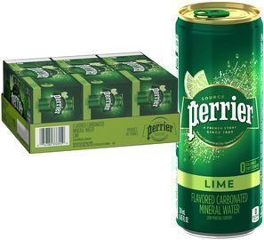 Perrier Lime Flavored Carbonated Mineral Water 30-Pack
