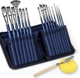 VIKEWE 16pc. Artist Paint Brush Set