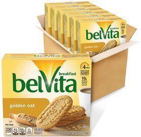 6 Boxes of belVita Golden Oat Breakfast Biscuits (5 Packs per box)