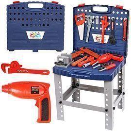 68pc Kids Toy Workbench w/ Realistic Tools