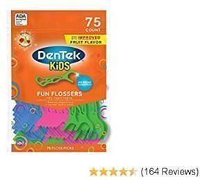Dentek Kids Fun Flossers (75 Floss Picks)