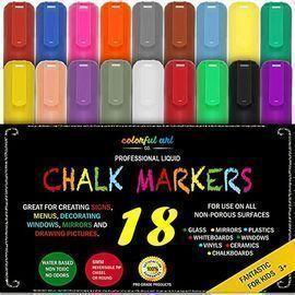 Fantastic ChalkTastic MEGA Chalk Markers, 18pk