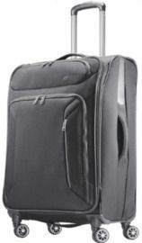 American Tourister 25 Zoom Spinner Expandable Suitcase w/ Dual Spinner Wheels, Black