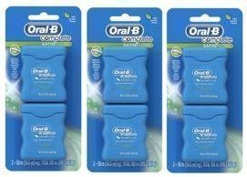 3 - 2 Packs of Oral-B Complete SatinFloss Dental Floss