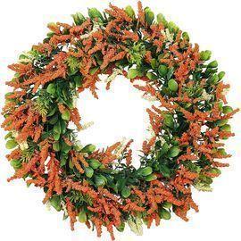 16 Orange Lavender Floral Wreath