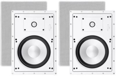 Monoprice Architectural In-Wall Speakers 8in 2-way (Pair)