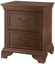 Beckford 2 Drawer Walnut Finish Nightstand (23.63 in W. X 28 in H.)