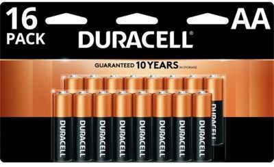 16-Pack Duracell Coppertop Alkaline AA Batteries