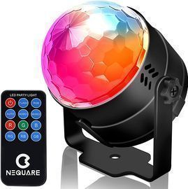 NEQUARE Party Lights Sound Activated Disco Lights