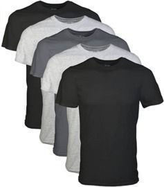 Gildan Men's Crew T-Shirt Multipack - 5 Count