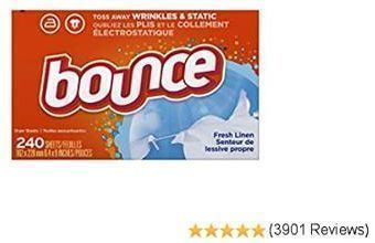 Bounce Fabric Softener Dryer Sheets, 240 count
