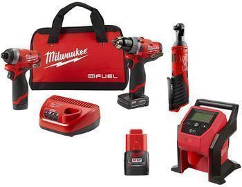 Milwaukee Milaukee M12 FUEL 12V Li-Ion Brushless Cordless Hammer Drill/Impact Driver Combo Kit