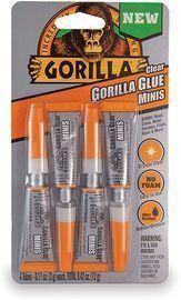 Gorilla Glue Clear Minis, 4pk