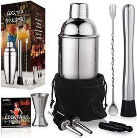 Aozita 24oz Cocktail Shaker Bartender Set