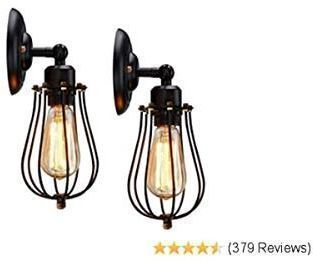 KingSo Rustic Wall Sconces - 2 Pack