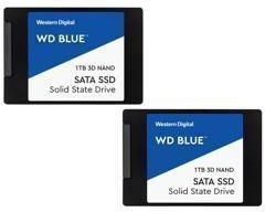 2 Pack of WD Blue 1TB 2.5 Internal SSDs