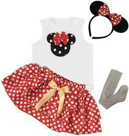 Baby Girl Outfits, Onesie & Skirt & Tights & Crown & Headband