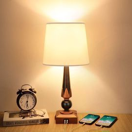 Mlambert 21 Dimmable Table Lamp w/ 2 USB Ports
