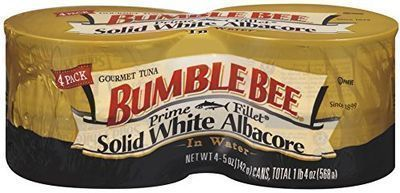 Bumble Bee Prime Fillet Solid White Albacore Tuna Fish 4-Pack
