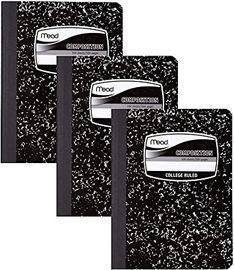 Mead 100 Sheet College Ruled Composition Books, 3pk