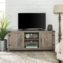 Manor Park Farmhouse Barn Door TV Stand