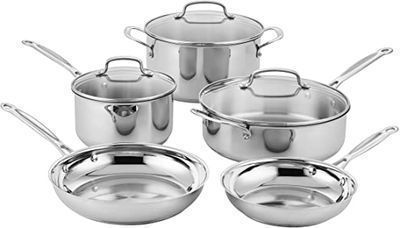Cuisinart Classic Stainless Steel Cookware Set, 8pc