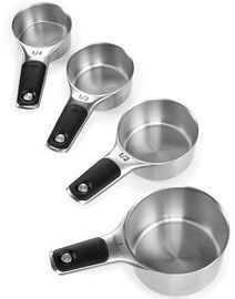 OXO Good Grips Set of 4 Stainless Steel Magnetic Measuring Cups