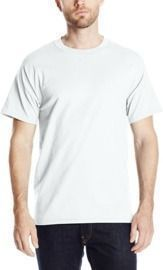 Hanes Men's White Short Sleeve Beefy-t
