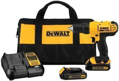 DEWALT 20V MAX Lithium Ion Cordless 1/2 in. Drill/Driver Kit